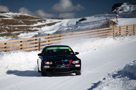 BMW snow driving training course at Wanaka