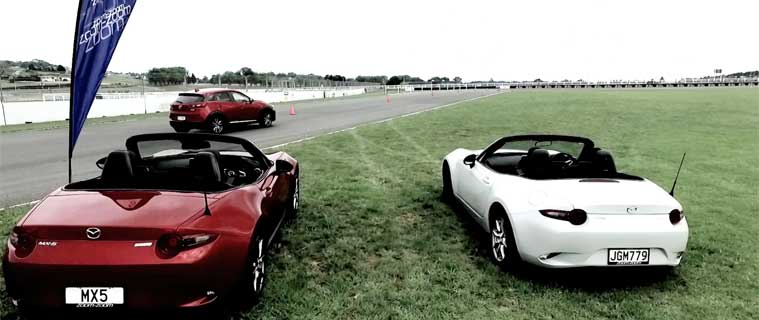 MX5s at TrackTime Driving Academy driver training