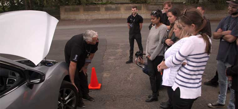 Tyre talk during TrackTime Driving Academy driver training